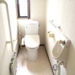 洗浄暖房便座付き水洗トイレ