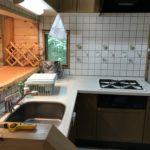 L字型キッチンはガスコンロ付き